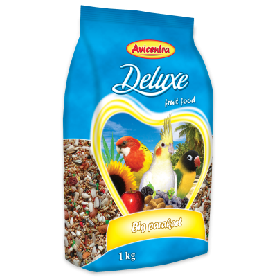 Grande Perruches Deluxe avec fruits